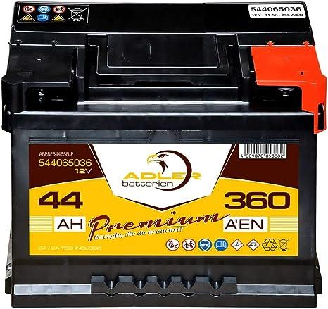 30/% mehr Leistung CA//CA Starterbatterie sofort betriebsbereit Autobatterie 44Ah