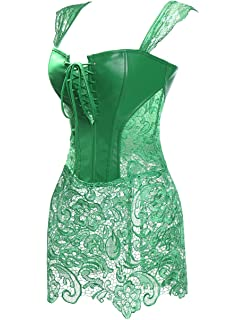 b6603359a57 MISS MOLY Women Steampunk Faux Leather Bustier Sexy Dress Corset Top Zip Plus  Size