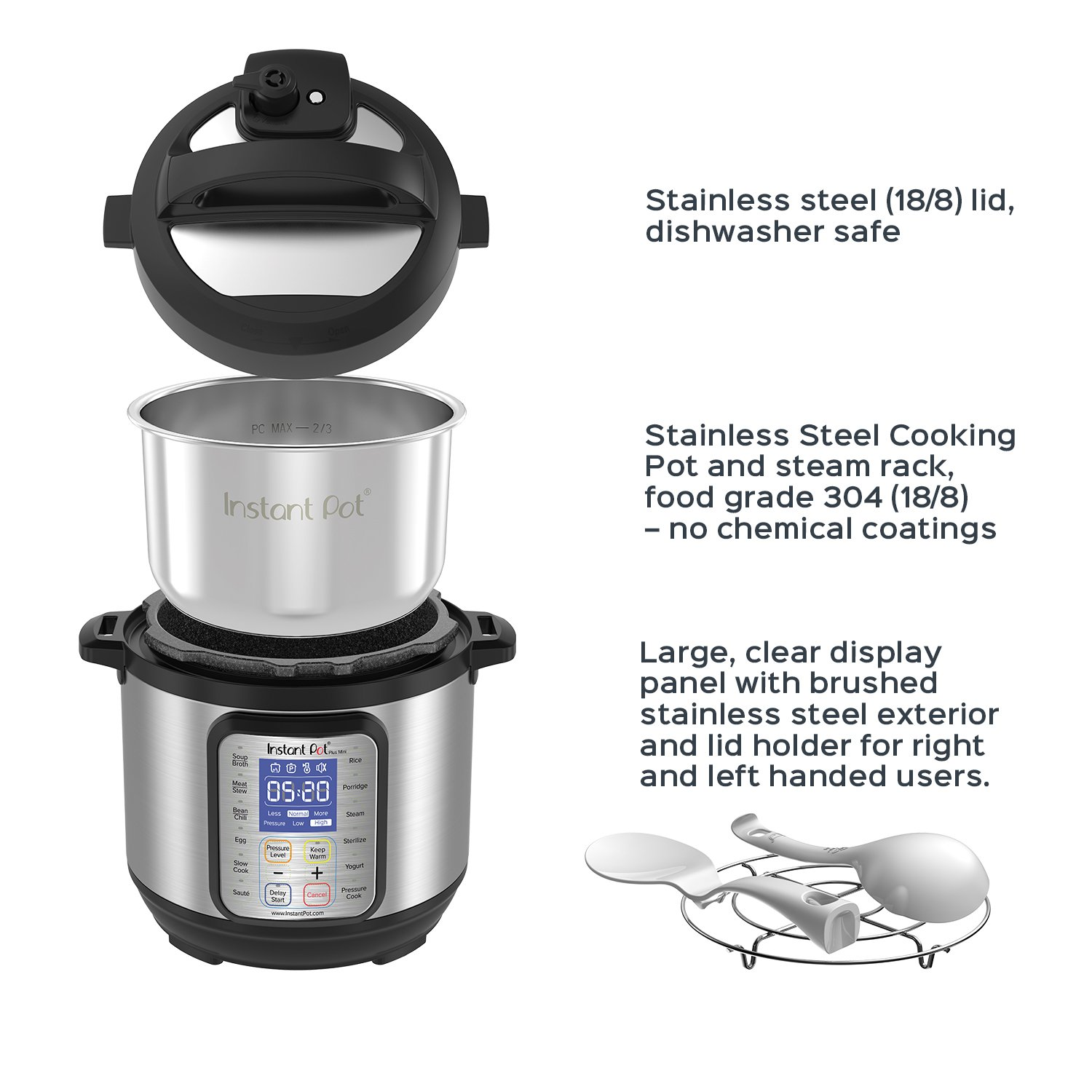 Instant Pot DUO Plus 3 Qt 9-in-1 Multi- Use Programmable Pressure Cooker, Slow Cooker, Rice Cooker, Yogurt Maker, Egg Cooker, Sauté, Steamer, Warmer, and Sterilizer by Instant Pot (Image #5)