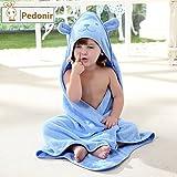 【Pedonir】赤ちゃん ベビー バスローブ ポンチョ マント 子供 フード付き お風呂 プール (ブルー)