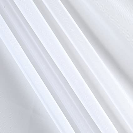 Amazon.com: Ben Textiles Inc. 120in Sheer Voile White Fabric By The Yard