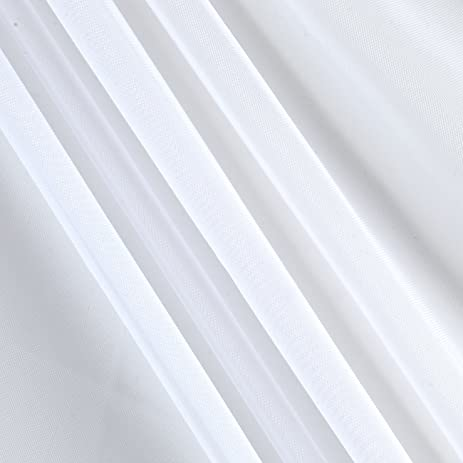 120in Sheer Voile White Fabric By The Yard