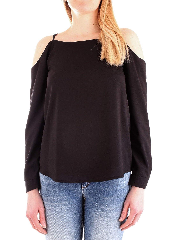 Silvian Heach Women's CVP19132BLBLACK Black Viscose Shirt