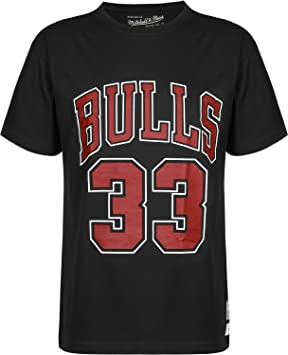 Mitchell & Ness Chicago Bulls Scottie Pippen 33 Camiseta Black