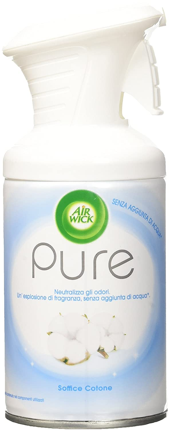 Air Wick 3060007Pure Spray, Soft Cotton–Pack of 6x 250ml–Total: 1.5L RB Factory Nowy Dwor ZGF