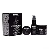 Brickell Men's Advanced Anti-Aging Routine, Night Face Cream, Vitamin C Facial Serum...