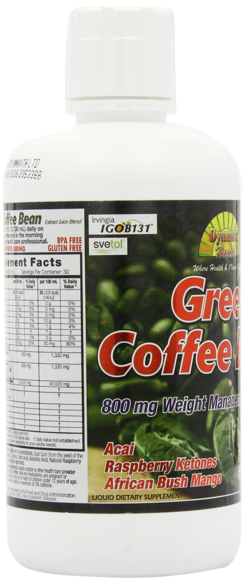 Dynamic Health Green Coffee Bean Juice Blend, 30 Fluid Ounce by Dynamic Health (Image #8)