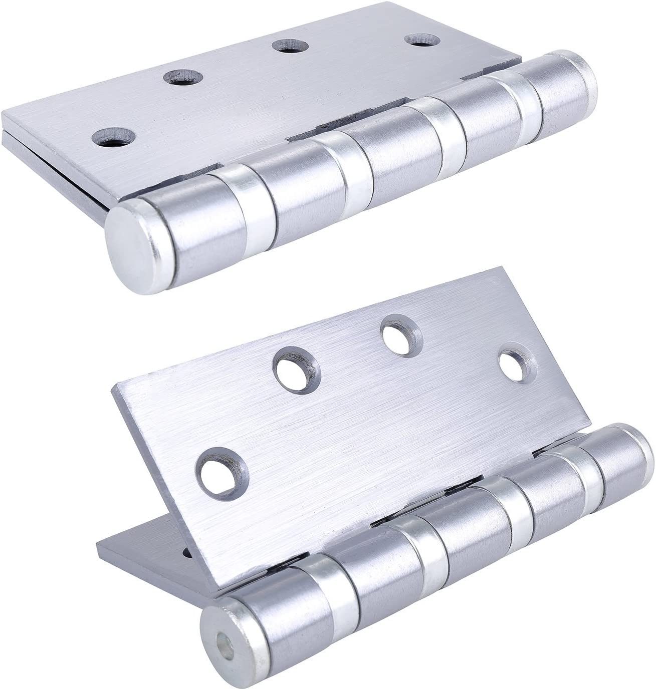 Pack of 1 Commercial Door Hinge Stainless Steel Finish by Dependable Direct 4 Bearing Heavy Weight 4.5 Inch