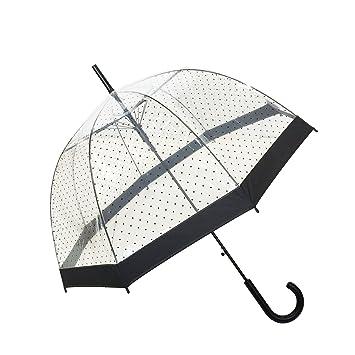 SMATI Paraguas largo transparente forma de campana automático-estampado (Transparente): Amazon.es: Hogar