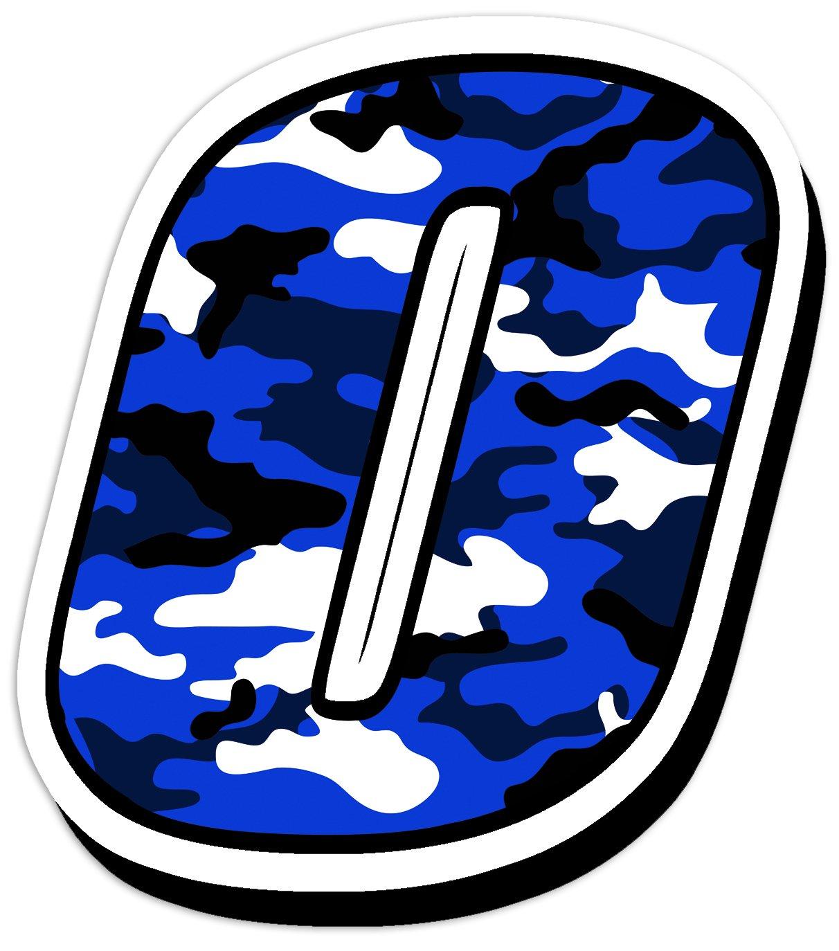 Skino Start nú mero vinilo adhesivos motosross motor sport racing tuning Camuflaje Azul