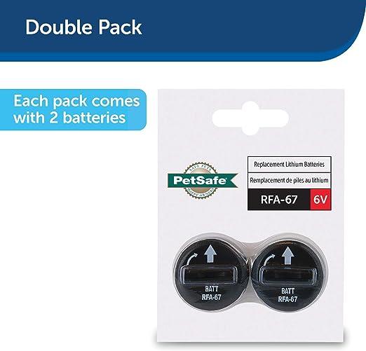 2x Pila de litio de 6V para collar antiladrido PetSafe: Amazon.es ...
