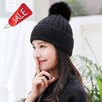 Sombrero de punto hecho a mano de las mujeres Sombrero caliente de la gorra  del invierno dc4458ad2e8
