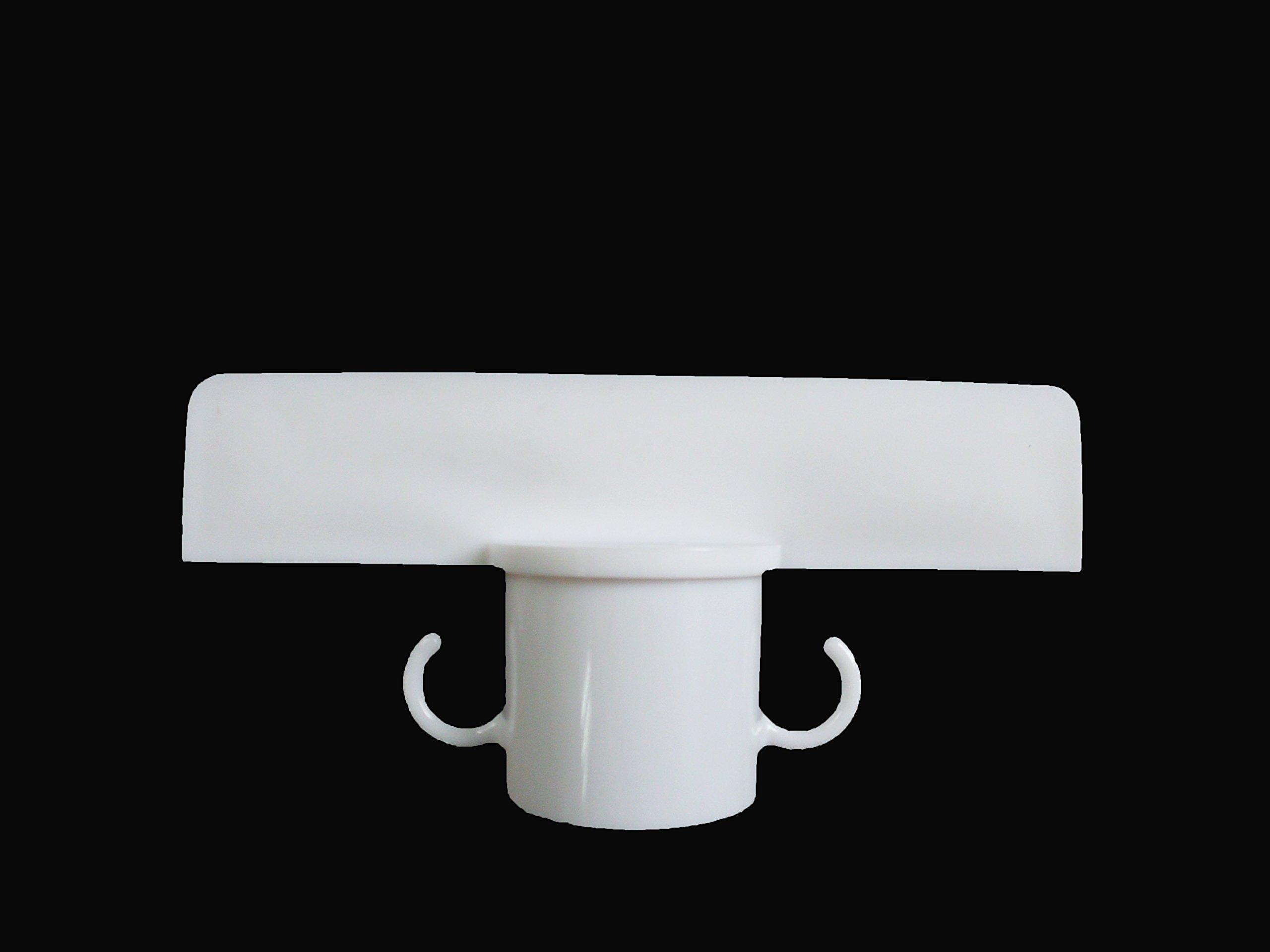 PLASTIC STANCHION 4PCS SET WHITE + 32' CHAIN + SIGN BRACKET, CROWD CONTROL CENTER
