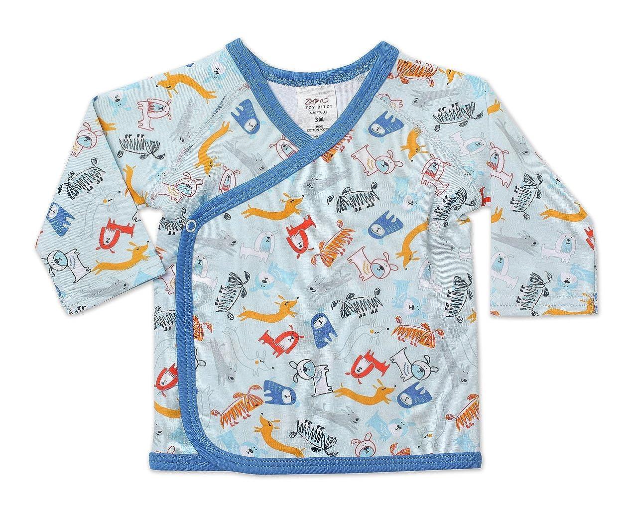 Zutano Baby-Boys Newborn Dino City Kimono Top AIB448