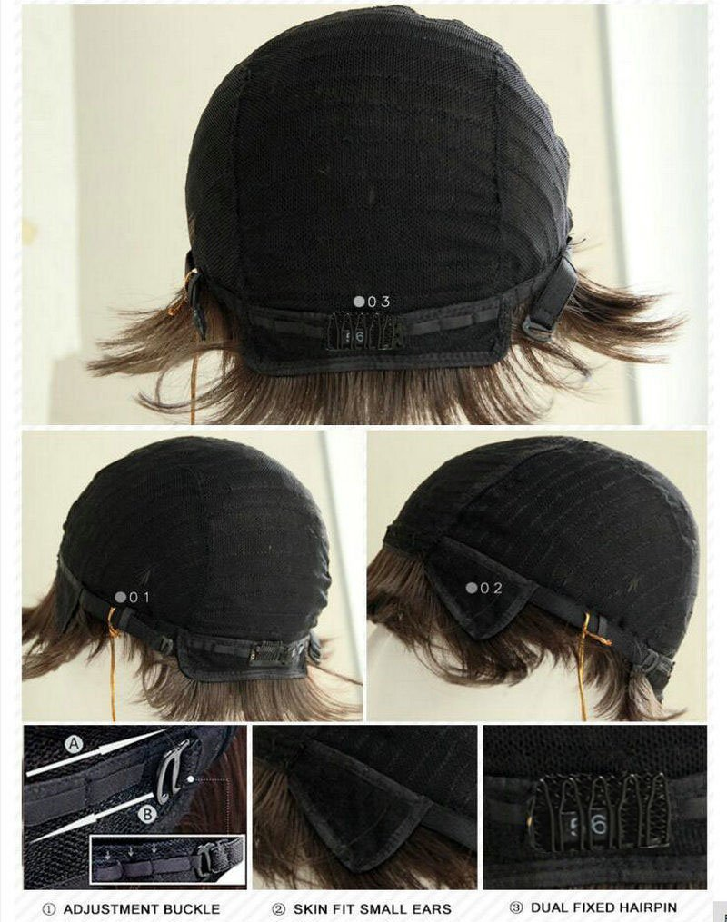 HOTKIS Pixie Cut Wigs Short Human Hair Wigs Human Hair Short Wigs for Black Women African American Wigs (SW8005-Black)
