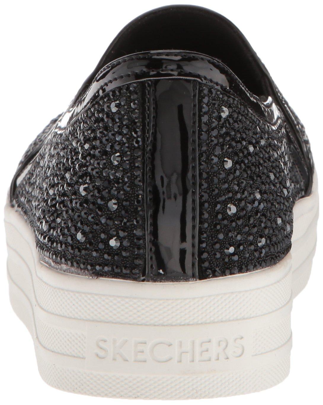 Skechers Women's Double up-Glitzy Gal Sneaker B0787NHNKJ 9 B(M) US|Black