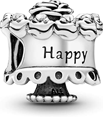 Astounding Amazon Com Pandora Jewelry Happy Birthday Sterling Silver Charm Birthday Cards Printable Opercafe Filternl