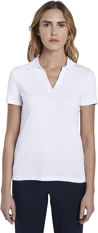 TOM TAILOR Damen Poloshirts Schlichtes Poloshirt