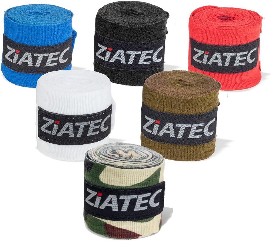 Ziatec Profi Boxing Bandages Couleur:Blanc en Sets de 2 et 4 Couleurs diff/érentes Taille:Taglia Unica 3m//4,5m