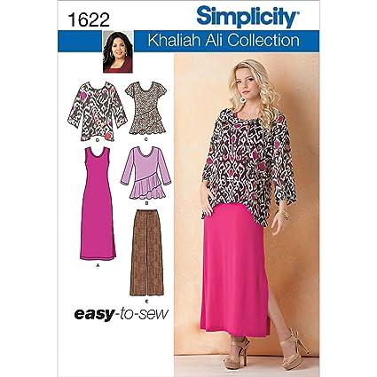 Amazon Simplicity Khaliah Ali Pattern 1622 Misses Easy To Sew