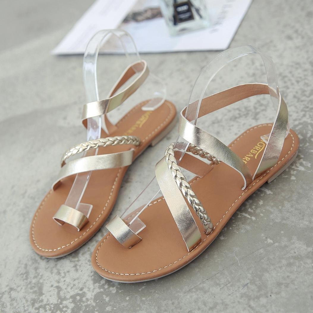 808f379106208 ¡Liquidación! Sandalias Mujer Verano Cruzado Romano Estilo Chancleta Casual  CóModo Vacaciones Playa Zapatillas Chanclas Moda Zapatos De Planos   Amazon.es  ...
