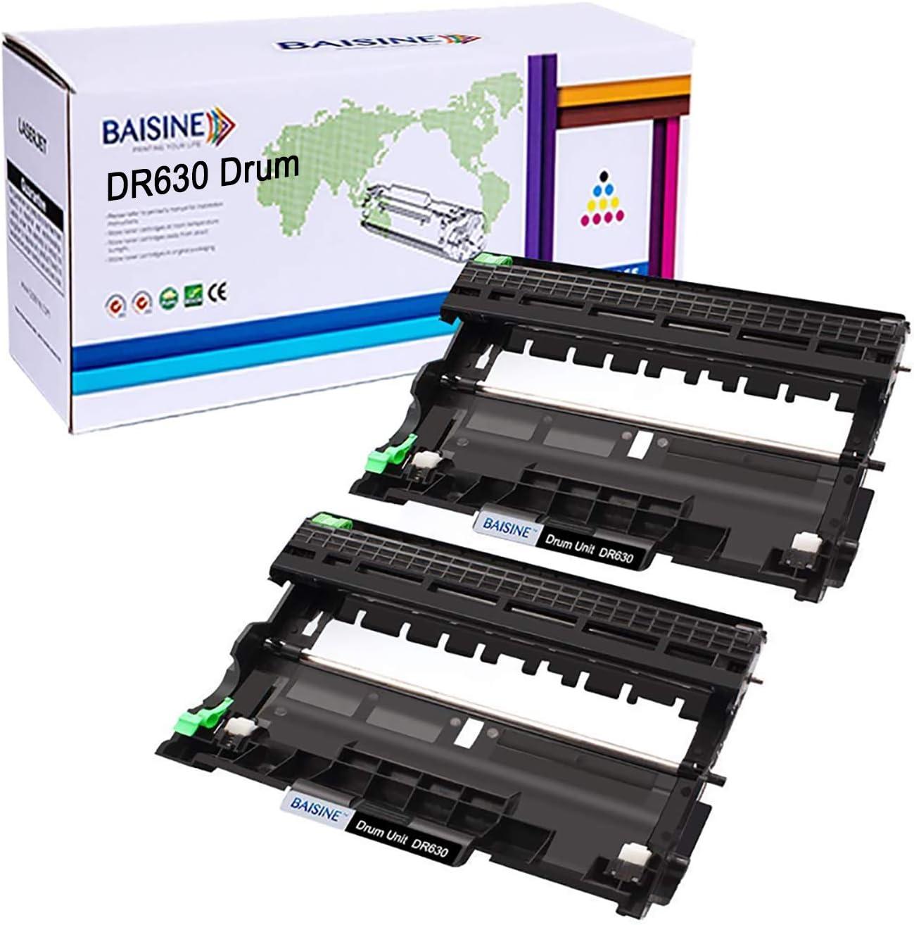 HL-2380DW Drum, BAISINE Compatible Drum Unit DR630 Replacement for Brother DR-630 DR630 for HL-L2300D HL-L2340DW HL-L2320D MFC-L2720DW DCP-L2540DW MFC-L2740DW HL-L2360DW MFCL2685DW MFCL2700DW (2-Pack)