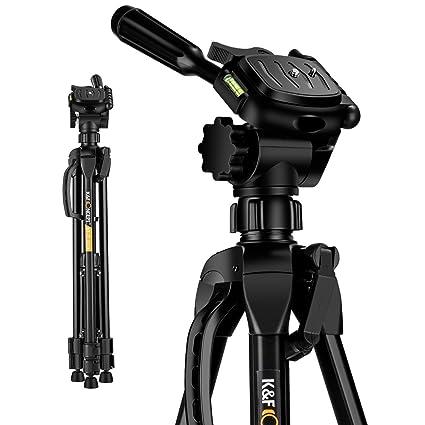 K&F Concept TL2023 Trípode Viaje Ligero para Cámara Réflex Canon ...