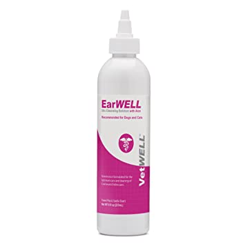VetWELL Cat and Dog Ear Cleaner - Otic Rinse for Infections and Controlling  Yeast, Mites and Odor in Pets - 8 oz