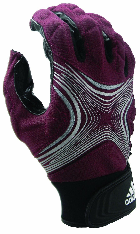 Adidas Powerweb 2.0 Fußball Empfänger Handschuhe, Maroon Silver