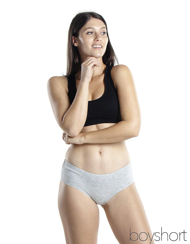 Emprella Women/'s Boyshort Panties Cotton Underwear 5-Pack Comfort Ultra-Soft
