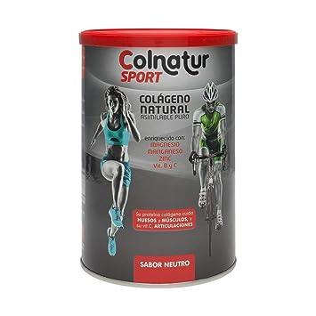 Colnatur Sport Natural Collagen Neutral Flavor 330gr - Collagen Proteins - Magnesium - Vitamin C -