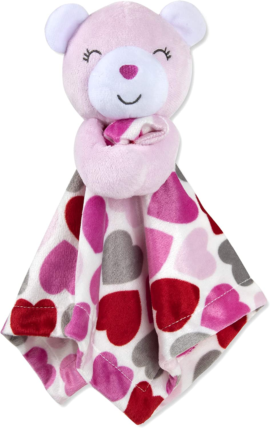 BABY MINKY SENSORY Security Blanket Lovey Plush Pink Gray White Daycare Nap Bed Time Car Rides Stroller Comfort New Baby Shower Gift