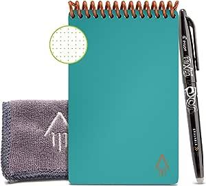 Rocketbook Mini Cuaderno Digital Inteligente Core, Teal, Punteado, Mini A6