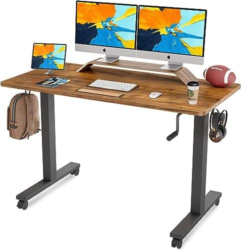 FAMISKY Crank Adjustable Height Standing Desk