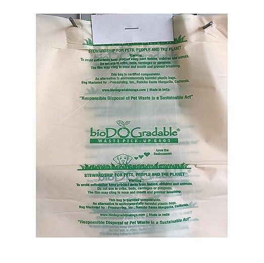 BioDOGradable Bolsas de Basura para Perros, no Hechas de ...