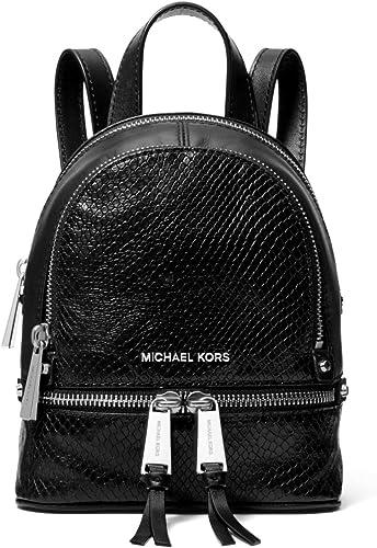 Michael Kors Rhea Mini Rucksack aus Leder mit Python Prägung