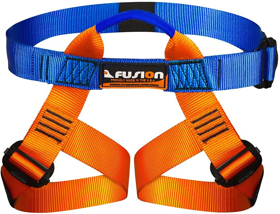 Fusion Climb Centaur Kiddo Half Body Children's Climbing Harness Ultra Light, Blue/Orange : Sports & Outdoors