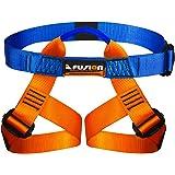 Fusion Climb Centaur Kiddo Half Body Children's Climbing Harness Ultra Light, Blue/Orange