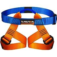 Fusion Climb Centaur Kiddo - Arnés de Escalada para niños, Ultraligero, Color Azul y Naranja