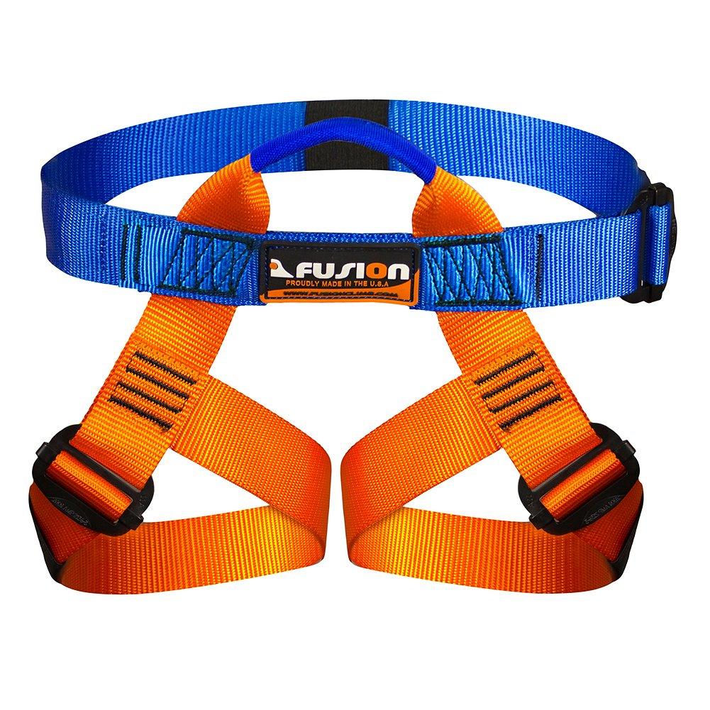 Fusion Climb Centaur Kiddo Half Body Children's Climbing Harness Ultra Light, Blue/Orange KH-103