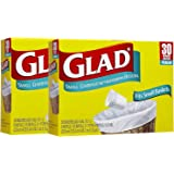 Glad Garbage Small White 30 ct 4 gallons 2pk