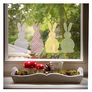 Fensterbild Osterhasen Set, Beliebte Oster Deko Für Das Fenster Im  Kinderzimmer, In 2