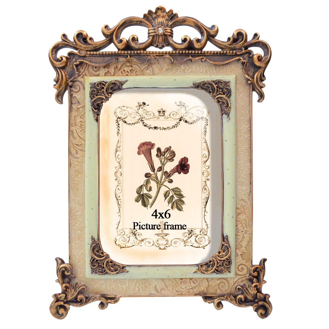 PETAFLOP picture frames 4 by 6 Inch Vintage Picture Frame Friends Gift Photo Display 4x6 PETAFLOPS IMP 4x6CH180303