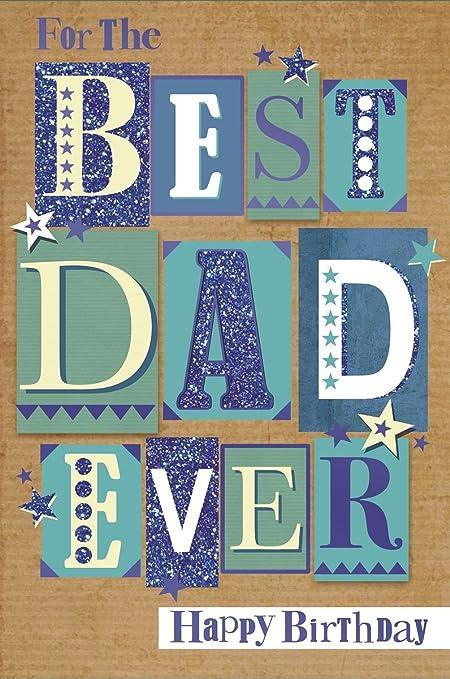 Vibrance Dad hecha a mano Tarjeta de cumpleaños - grandes ...