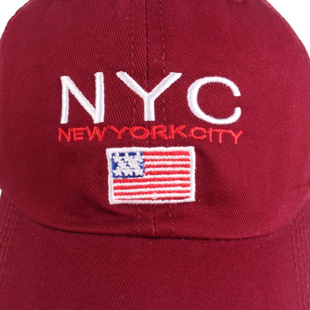 Amazon.com  Vankerful Unisex Baseball Cap Cotton Hats Letter NYC  Embroidered Adjustable Six Panel Cap Sun Cap Strapback  Clothing 88cb4afcad31