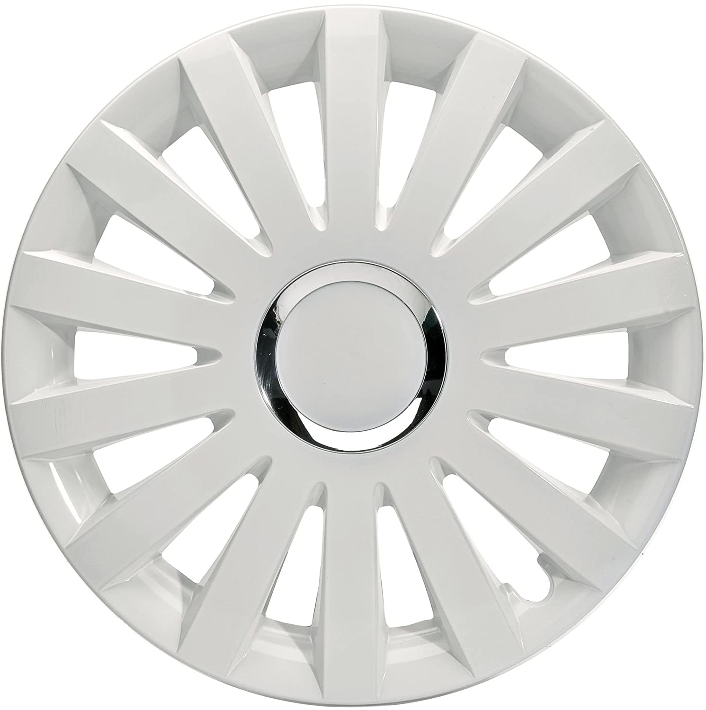 1 Set da 4 Pezzi ALBRECHT automotive 49225 Copricerchi Sail 15 pollici Bianco Plus