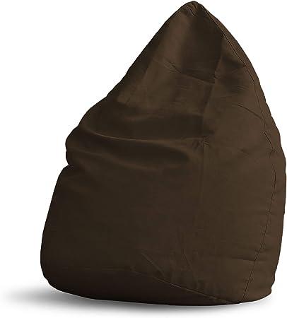 Imagen deLumaland Beanbag PUF otomano Puff XL Plus Comfortline 220 lt Relleno Costura Reforzada marrón