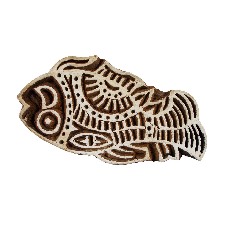 Textile Scrapbook Heena Tattoo Clay Craft Art Pottery Fish Block Wooden Printing Stamps