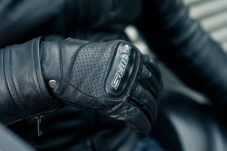 Shima CALIBER Retro Vintage Cl/ásico Ventilados Verano Guantes de Motociclismo Tama/ño: XXL Negro S-XXL