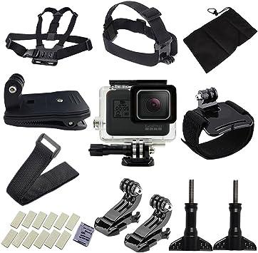 Accesorios para GoPro, niceEshop (TM) 15 Esencial Kit de Accesorios para GoPro Hero 5 para Escalada en Paracaidismo natación Buceo Surf Remo Running ...